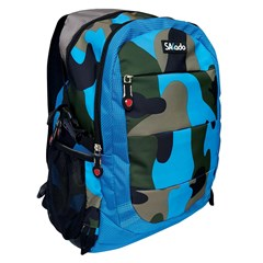 SAKADO Backpack 18'' 3 compartments Army Blue
