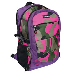 SAKADO Backpack 18'' 3 compartments Army Pink