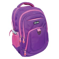 SAKADO Backpack 18.5'' 4 compartments Purple/Pink