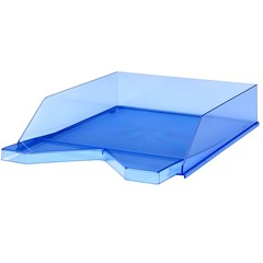 Jalema Letter-tray Silky A4, Transparent Blue