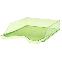 Jalema Letter-tray Silky A4, Transparent Green