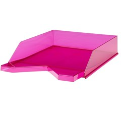 Jalema Letter-tray Silky A4, Transparent Pink