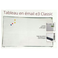 VANERUM Classic 120x400cm E3 Whiteboard ceramic st
