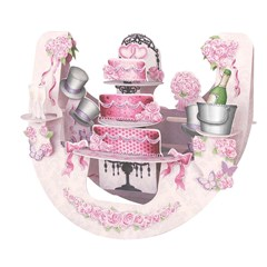 SANTORO 3D card-Popnrock-Wedding Cake