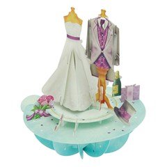 SANTORO 3D card-Pirouettes-Wedding
