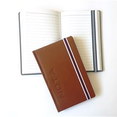 Pocket Note Book PU Lines 70g 17 x 10.7 cm W/Cord