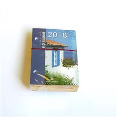 2018 Desk Block Calendar, Golden, 8.5x12 cm