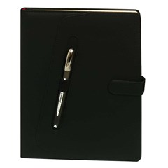 2018 Diary Weekly Large, Cream  w/pen holder,Black