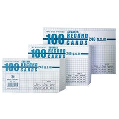 Record Cards Squares 240g- 100/pack- Med.- White
