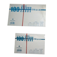 Record Cards Squares 240g- 100/pack- Large- White