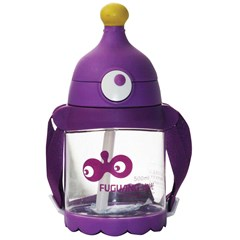 Water Bottle with belt 500ml Transparent/Purple
