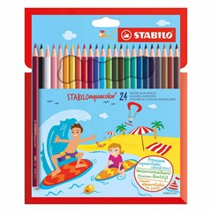 1624-6 Aquacolor pencil 24 colors in cardboard