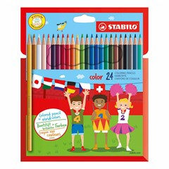 1924/77-11 Coloring pencils 24 colors in cardboard