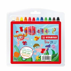 2624PL Trio Oil Pastels 24 Colors in Wallet