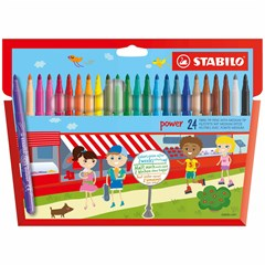 280/24-01 POWER Coloring Pens Felt tip 24 colors
