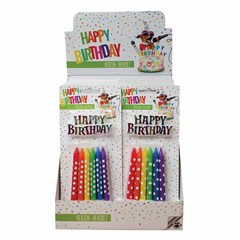 TRENDHAUS Birthd.Fun Candle Deco Set Rainbow 2/D.