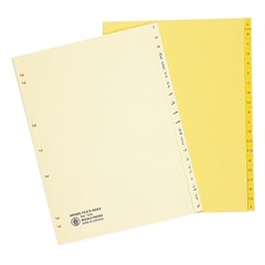 Files Index Sep. Bristol 180g- Ar- A4-Yellow