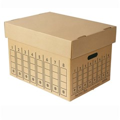 Storage Box for Letter-File 44x32.50x29cm- Kraft