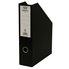 CROWN Magazine Box PVC 31x23x07cm- Black