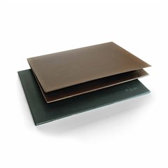 Desk Pad- PVC- 2 plies- 35x50cm- Brown