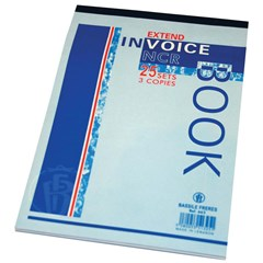 Invoice book NCR- 3 copies of 25sh each- B5