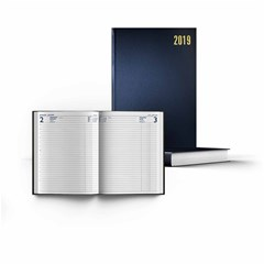 2019 Desk Diary Hard Cover 70g  L.Op., Lines, A4