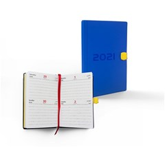 2021 Pocket Diary, 2 Days/Page,With Sliding Lock