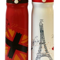 Water Bottle Vacuum 500ml stainless Paris/London
