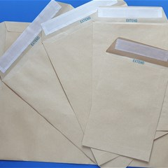 EXTEND Ribbed Envelope 110g 162 x 229mm Kraft P/S