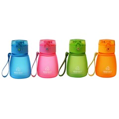 Water Bottle Tritan 300ml 4 assorted colors