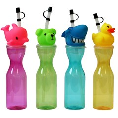 Water Bottle Plastic Animals Motifs, 4 mix designs