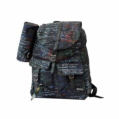 ROCO Backpack Printed Black 1 Zip. 16+P.Case