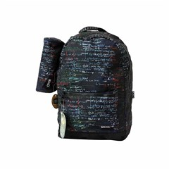 ROCO Backpack Printed Black 2 Zip. 18+P.Case