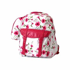 ROCO Backpack Floral White 1 Zip. 17+P.Case