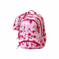 ROCO Backpack Floral Pink 3 Zip. 18 +P.Case
