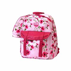 ROCO Backpack Floral Pink 1 Zip. 17 +P.Case