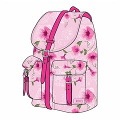 ROCO Backpack Floral Pink 1 Zip. 16+P.Case