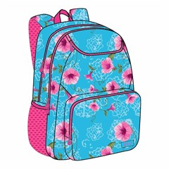ROCO Backpack Floral Sky Blue 3 Zip. 18+P.Case