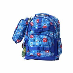 ROCO Backpack Kids Fash. Blue 2 Zip. 17''+P.Case
