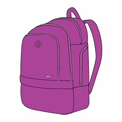 ROCO Backpack Fluo 3 Zip. 20 Violet+P.Case