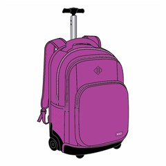 ROCO Trolley2 Fluo 3 Zip. 19 Violet+P.Case