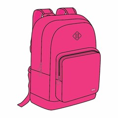 ROCO Backpack Fluo 2 Zip. 17 Pink+P.Case