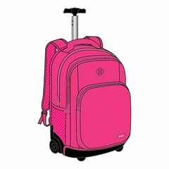 ROCO Trolley2 Fluo 3 Zip. 19 Pink+P.Case
