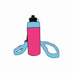 ROCO Water Bottle FBM 1000ml Pink/Cyan