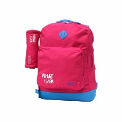 ROCO Backpack Basic 2 Zip. 17 Pink/Cyan+P.Case