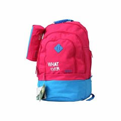 ROCO Backpack Basic 3 Zip. 20 Pink/Cyan+P.Case