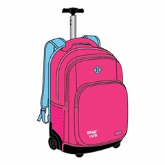 ROCO Trolley2 Basic 3 Zip. 19 Pink/Cyan+P.Case