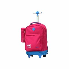 ROCO Trolley1 Basic 2 Zip. 18 Pink/Cyan+P.Case