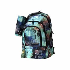 ROCO Backpack Printed 3 Zip. 20+P.Case