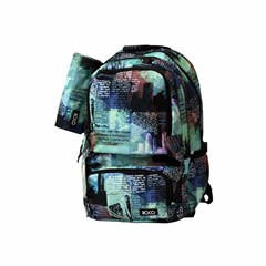 ROCO Backpack Printed 3 Zip. 19+P.Case